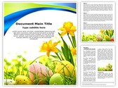 Easter Eggs Flowers Template