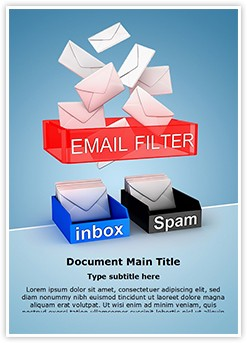 Email Filter for Spam Editable Word Template