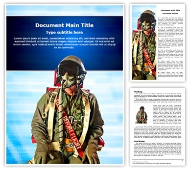 Fighter Pilots Suit Editable Word Document Template