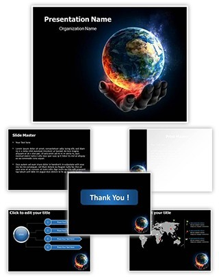 Global Warming Concept Editable PowerPoint Template