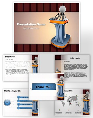 Giving Speech 3D Editable PowerPoint Template