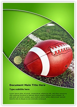 Football Rugby Editable Word Template