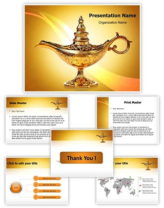 Aladdin Lamp Editable PowerPoint Template