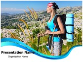 Traveling Backpack Editable PowerPoint Template