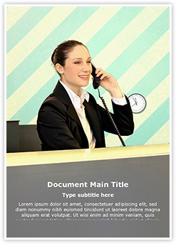 Front Office Editable Word Template