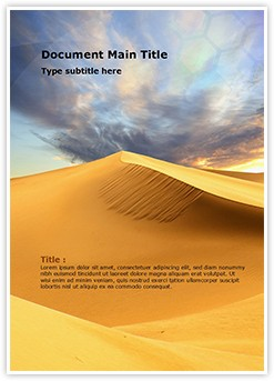 African Desert Editable Word Template