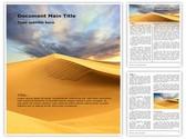 African Desert Editable Word Template