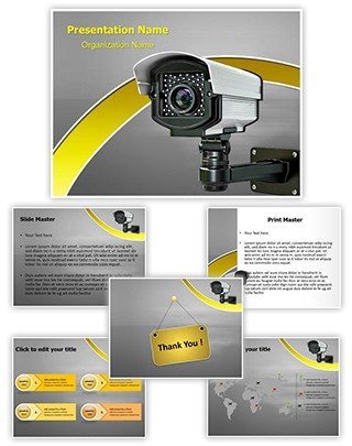 CCTV Security Camera Editable PowerPoint Template