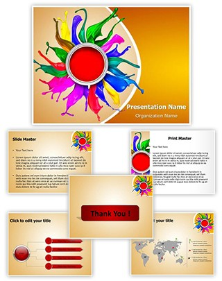 Colors Paint Splashing Editable PowerPoint Template