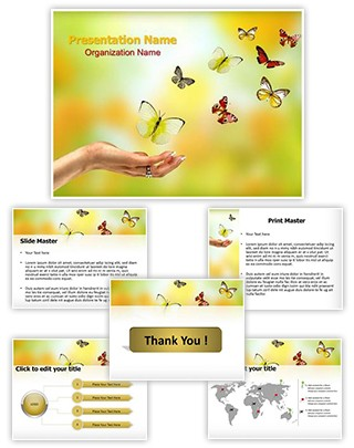 Butterfly Freedom Editable PowerPoint Template