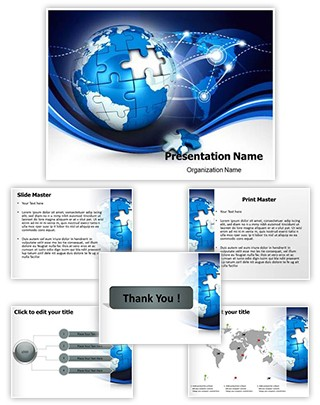 Globe Puzzle Editable PowerPoint Template