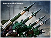 Antiaircraft Rockets Editable PowerPoint Template