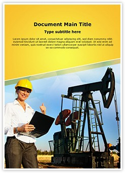 Engineer Oilfield Editable Word Template
