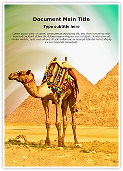 Pyramids Camel Editable Word Template