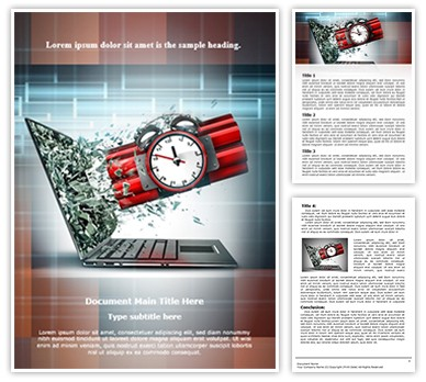 Digital Terrorism Editable Word Document Template