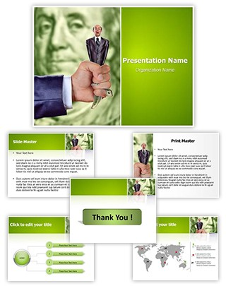 Squeezing for money Editable PowerPoint Template