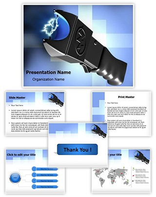 Stun Gun Editable PowerPoint Template