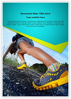 Hiking Shoes Editable Word Template