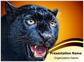 Black Leopard Editable PowerPoint Template