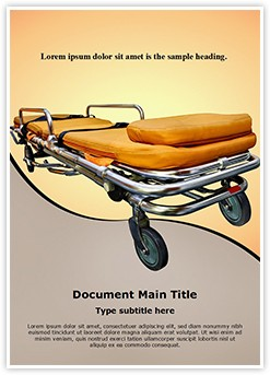 Stretcher Editable Word Template