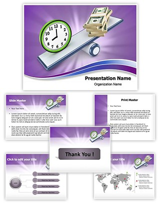 Time and Money Balance Editable PowerPoint Template