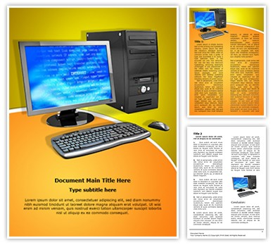 Personal Computer Editable Word Document Template