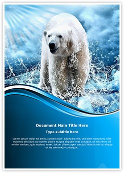 Polar Bear Editable Word Template