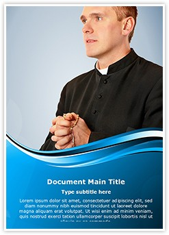 Priest Rosary Editable Word Template