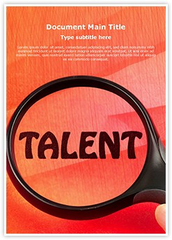 Talent Editable Word Template