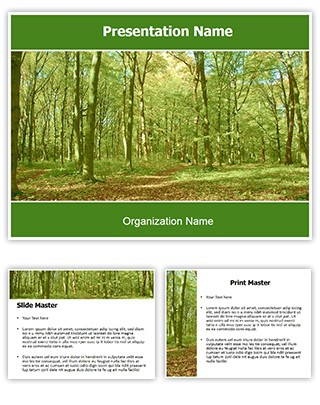 Professional Green Forest Editable Powerpoint Template
