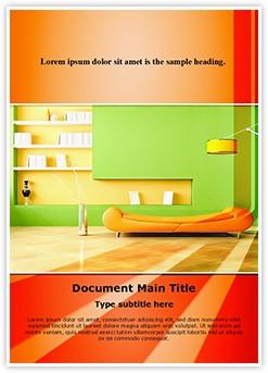 Living Room Editable Word Template