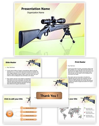 Sniper Rifle Editable PowerPoint Template