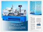 Metalworking Lathe Machine Template