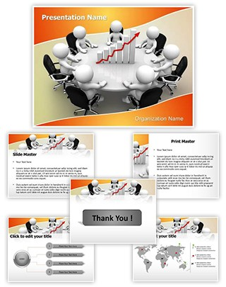 Sales team Meeting Editable PowerPoint Template