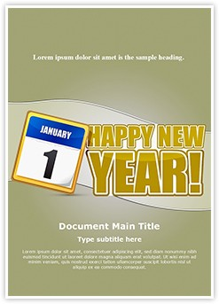 New Year Editable Word Template