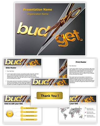 Budget Cut Editable PowerPoint Template