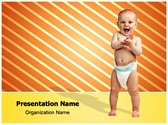 Baby Diaper PowerPoint Templates