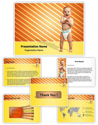 Baby Diaper Editable PowerPoint Template