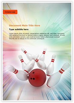 Bowling Editable Word Template