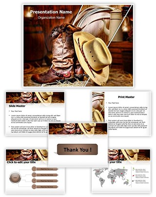 American Cowboy Editable PowerPoint Template
