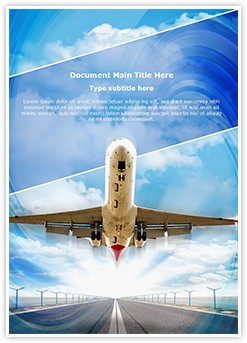 Airplane Takeoff Editable Word Template