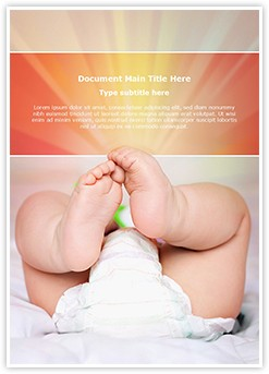 Baby Diapers Editable Word Template