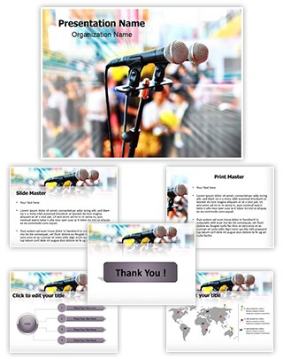 Public Speaking Editable PowerPoint Template