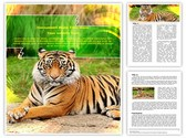 Bengal Tiger Editable Word Template