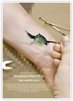 Biochip in Hand Editable Word Template