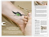 Biochip in Hand Template
