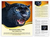 Black Leopard Editable Word Template