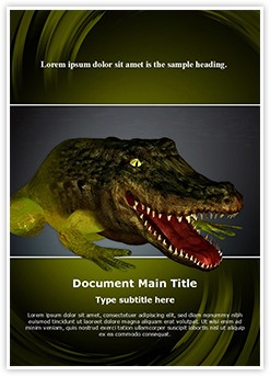 Chimera Genetics Frog Crocodile Editable Word Template