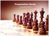 Wooden Chess Editable PowerPoint Template