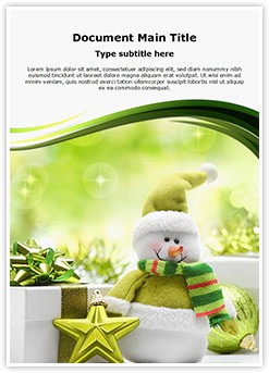 Christmas Snowman Editable Word Template